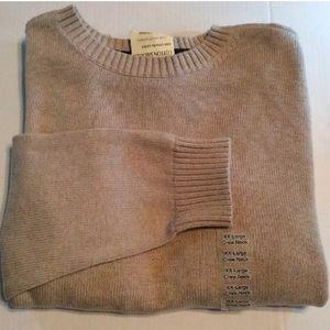 NWT St. John's Bay classic cotton sweater XXL Tan